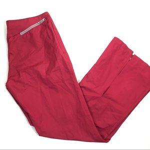 fila fitness sports burgundy Windbreaker pants 8